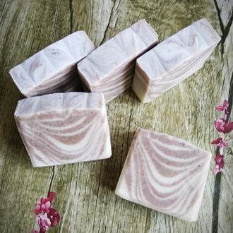 Натуральное мыло с нуля с розовой глиной
