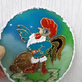 Сувенир: магнит ′Год Петуха 2017′.