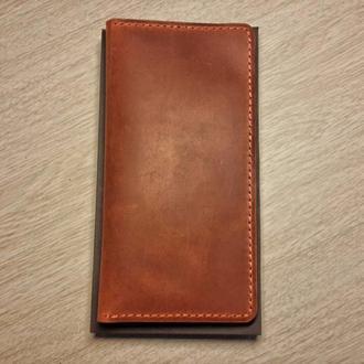 Клатч LeatherConcept, прошит, натуральная кожа с покрытием pull-up