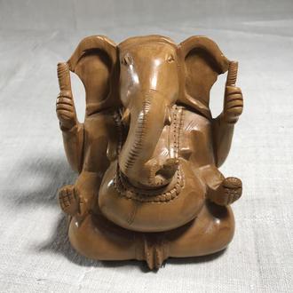 "Фигурка деревянная ""Ганеша (Слон)-Индийский Бог мудрости"""