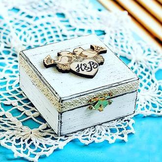 Коробка для колец влюбленные птички