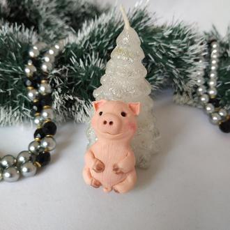 Магнит поросенок, новогодний сувенир - свинка. Символ 2019 года. Pig.