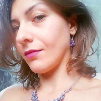 Комплект натуральные камни 💎 Чароит