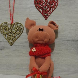 Свинка - символ 2019 года! Подарок на Новый год. Сувенир. Новогодний декор.