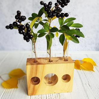 Вазочка деревянная