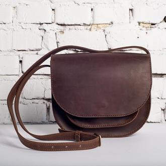 Маленькая женская сумка Solo из коричневой кожи
