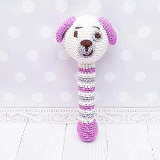 Игрушка погремушка собачка для малышей