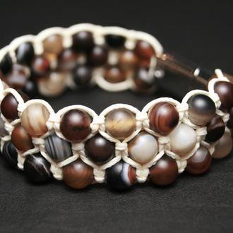 Браслет шамбала из натуральных камней агат