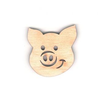 Высечка для декупажа Год Свиньи 2019 Свинка 5см 4мм фанера