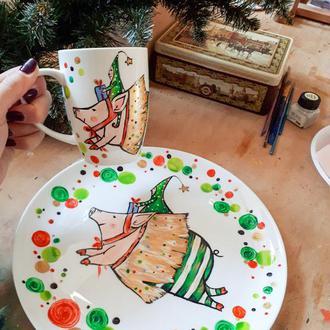 "Новогодний набор посуды ""Волшебство"""