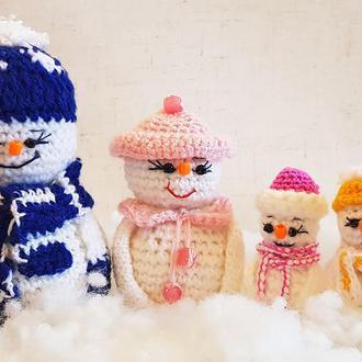 Набор снеговиков Семейка - Папа, Мама, Сын и Дочь