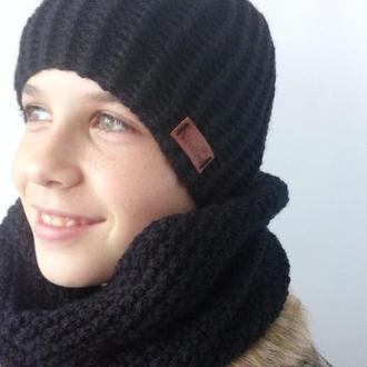 Женская шапка и снуд. Комплект.