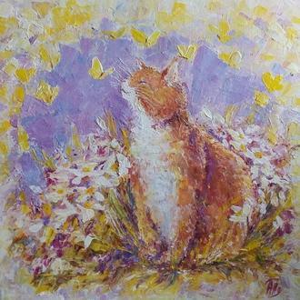 """Картина """"Апрельское колдовство.Рыжий кот"""""""