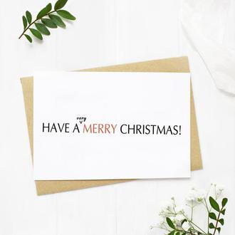"""Листівка """"Have a very merry Christmas"""""""