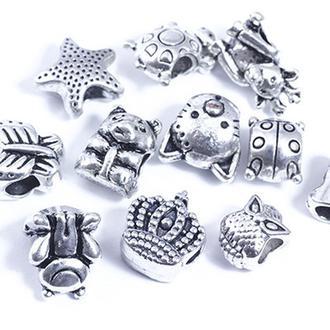 Шармы для браслетов Пандора металлические