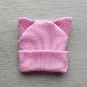 Шапка КОШКА MINI one size «Розовый»
