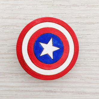 Значок «Капитан америка - белая звезда»