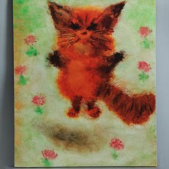 """Авторская картина """"Кот""""."""