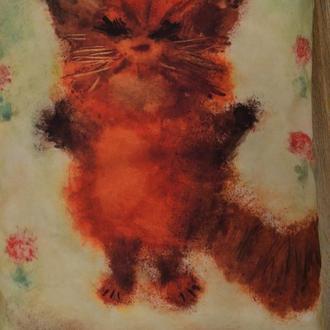 """Авторская подушка """"Кот""""."""