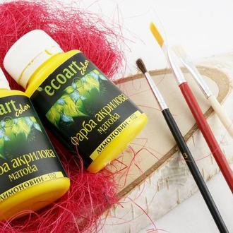Краска акриловая художественная Лимонная 50 мл