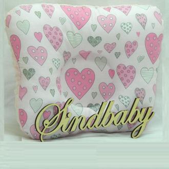 """Подушка для новорожденных """"pink heart"""""""