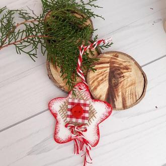 Нобор новогодних игрушек 10 шт, интерьерные подвески, игрушки на елку, новогодний сувенир