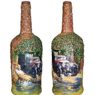 """Подарочная  бутылка """"Послеобеденный отдых"""", подарок мужчине на день автомобилиста"""