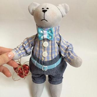 Мишка тильда Дэнни, игрушка оригинальный подарок дочке, сыну, девушке