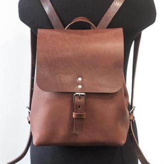 Женский рюкзак из винтажной кожи