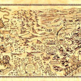 Карта Мародеров (Marauder's Map), карта волшебного мира Гарри Поттера РАСШИРЕННАЯ ВЕРСИЯ
