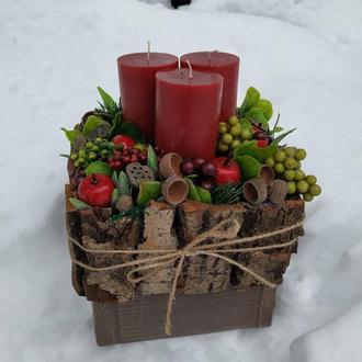 Подсвечник новогодний
