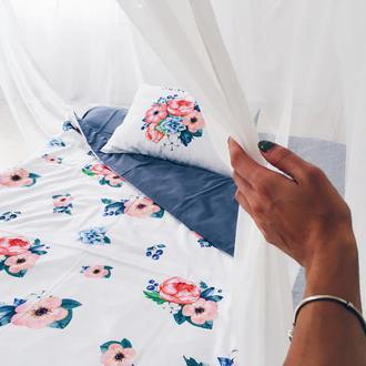 Двусторонняя постель в цветы (полуторный)