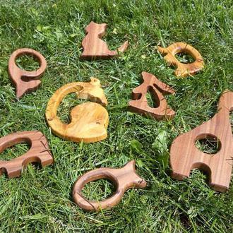 Игрушки-грызунки, прорезыватели для детей из натурального дерева