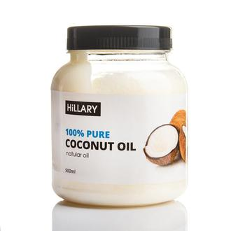 Кокосовое масло рафинированное Hillary Premium Quality Coconut Oil 500мл