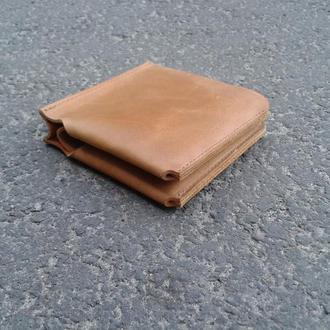 Мужской кожаный бумажник, кошелек, портмоне для денег и карточек.