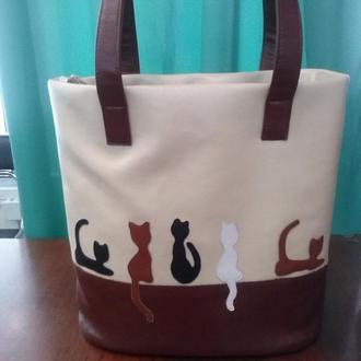 сумка с котами