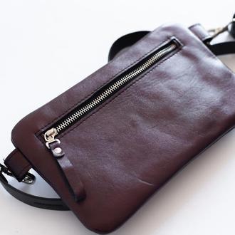Женская сумка Pocket bag через плечо с натуральной кожи