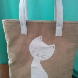 сумка счастливый кот