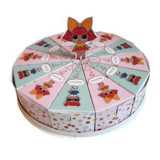 Бумажный торт в стиле куколок LOL