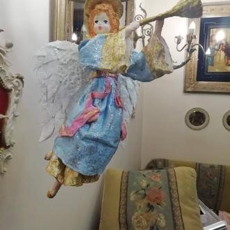 """Ватная игрушка """"Рождественский Ангел"""""""