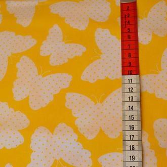 Ткань для квилтинга, лоскутного шитья, Бязь, бабочки 1