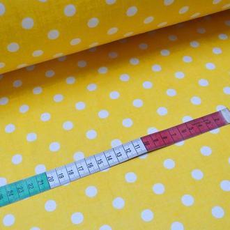 Ткань для квилтинга, пэчворка, лоскутного шитья, Бязь, горохи 1 см цвет в ассортименте