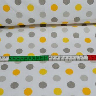 Ткань для квилтинга, пэчворка, лоскутного шитья, Бязь, горохи 2 см цвет в ассортименте