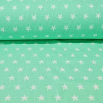 Ткань для квилтинга, пэчворка, лоскутного шитья, Бязь, звезды №1 остроконечные цвет в ассортименте