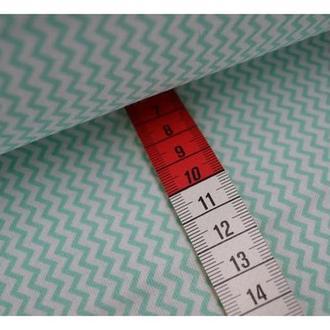 Ткань для квилтинга, пэчворка, лоскутного шитья, Бязь, зиг-заг мелкий. Цвет в ассортименте