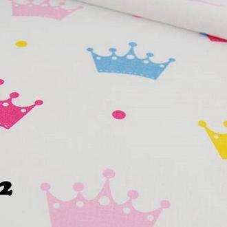 Ткань для квилтинга, пэчворка, лоскутного шитья, Бязь, корона. В ассортименте