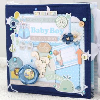 Альбом ручной работы для новорожденного мальчика