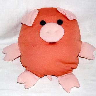 Свинка Апельсинка Свинья - подарок к Новому году, развивающая сенсорная игрушка
