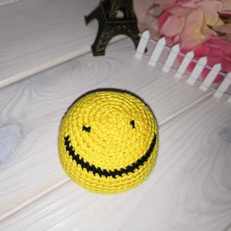 "Сокс - вязаный мячик ""Смайлик желтый"""