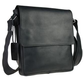 Кожаная мужская сумка через плечо. Барсетка с плечевым ремнем